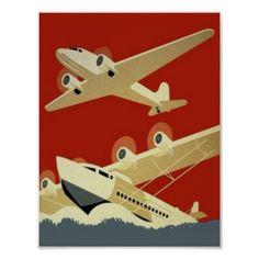 Vintage Clipper Pan American Airways Poster