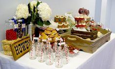 drinks with straws and bottles Western/Cowboy Dessert Table by robofifi