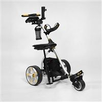 My husband loves to go golfing all the time. He also complains that his should is starting to give out because he has to carry the clubs everywhere. I think he would like something like this for his birthday.