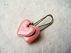 Perfectly Pink Heart Earrings