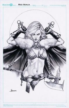 Red Sonja by Jay Anacleto Charity Auction piece for 2018 Comic Art Comic Book Artists, Comic Artist, Comic Books Art, Red Sonja, Guerrero Tattoo, Illustration Fantasy, Character Art, Character Design, Conan The Barbarian