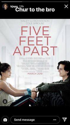 Cole Sprouse & Haley Lu Richardson's New 'Five Feet Apart' Trailer Shows Off Their Hospital Romance - Watch Now!: Photo The new trailer for Cole Sprouse and Haley Lu Richardson's film Five Feet Apart has arrived! The Riverdale actor and the Split actress… Sad Movies, Movies 2019, Hindi Movies, Movie Tv, Justin Baldoni, Haley Lu Richardson, Film Disney, Disney Pixar, Film Streaming Vf