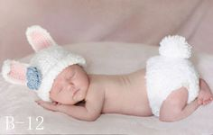 Rabbit Newborn baby suit crochet Newborn photo props photography