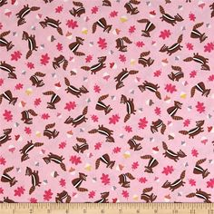 Let's Get Nutty Chipmunks Pink from @fabricdotcom  Designed for Timeless Treasures, this cotton print fabric is perfect for quilting, apparel, and home decor accents. Colors include black, yellow, grey, white, shades of brown, shades of orange, and shades of pink.