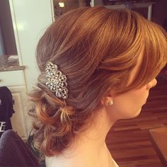 For bridal headpieces visit my site http://www.nancycaroline.com. #bride #updo #braidupdo #hairpiece #haircomb #crystalhaircomb #bridalupdo #bridalhair #wedding #weddingday #weddingupdo #weddinghairstyle #bridesmaid #bridalheadpiece #curls #nancycaroline #nancycarolinecosmetics #nancycarolinebridalstyling