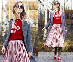 Get this look: http://lb.nu/look/8558245  More looks by Eva Velt: http://lb.nu/eviv  Items in this look:  Sammydress Coat, Sammydress Sweater, Sammydress Skirt, Sammydress Sunglasses   #edgy #punk #street