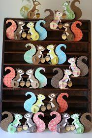 Paper 3d squirrels from Noahs abc animals
