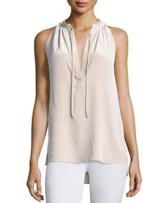 THEORY Theory Livilla Summer Silk Sleeveless Top. #theory #cloth #