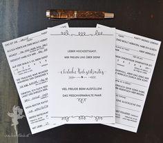 """Hochzeitsgästebuch - 30 Gästekarten ❤ zum Ausfüllen, """"Notiz"""", DIN A5 - ein Designerstück von Feenstaub-Papeterie bei DaWanda"""