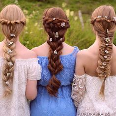 Sister braids We've never actually posted a picture on here with all three of us, so we t...