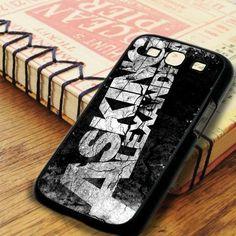 Black White Asking Alexandria Logo Samsung Galaxy S3 Case