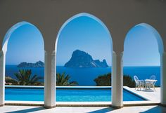 Pool and Arches Wall Mural image