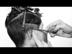 how to cut short women haircut with long fringe - YouTube