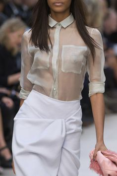 Burberry Spring S/S 2014..wrap skirt and that blouse...beautiful