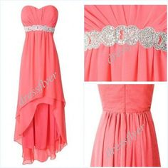 Hey, I found this really awesome Etsy listing at https://www.etsy.com/listing/184719693/light-coral-beads-chiffon-prom-dress