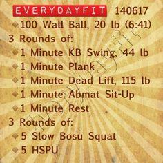 #EveryDayFit 140517 #wod #workout #crossfit #100wallballs