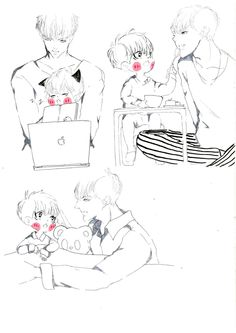 little ZiTao and YiFan  #kristaofanart #KrisTao