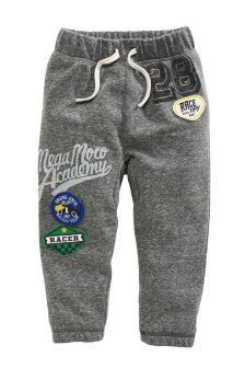 Buy Grey Badged Joggers online today at Next: United States of America Boys And Girls Clothes, Baby Kids Clothes, Boys Pajamas, Pyjamas, Boys Joggers, Baby Suit, Kids Fashion Boy, Boys Wear, Winter Kids