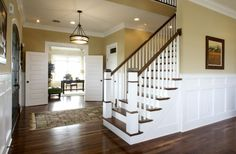 Love the floors, wainscotting and the doors