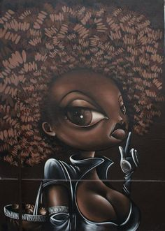 Vinie Graffiti Beautiful Black Woman