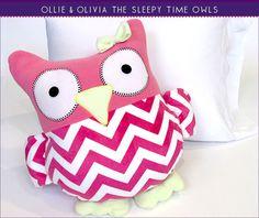 Sleepy Time Stuffed Owls | Sew4Home