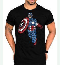 8823a3b2c Captain America Typography Unisex T-Shirt - SouthofMemphis Marvel  Characters, Cool T Shirts,