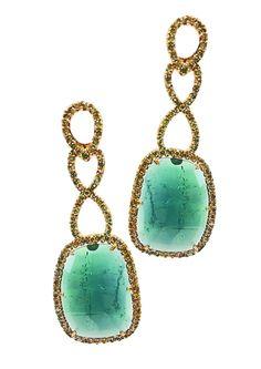 Hari Jewels tourmaline twist earrings