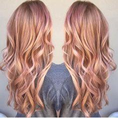 #rosegoldhair #blondeHair #longHair #hair #pinkhair #highlights
