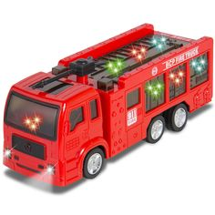Kids Toy Fire Truck Electric Flashing Lights and Siren Sound, Bump and Go Action #BestChoiceProducts