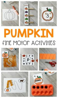 Top Ten Everyday Living Insurance Plan Misconceptions 12 Printable Pumpkins Fine Motor Busy Bins Are Perfect To Intentionally Add Fine Motor Practice Into Your Day In Preschool, Pre-K, and Kindergarten This Fall Fall Preschool Activities, Preschool Lessons, Preschool Learning, Preschool Crafts, Toddler Activities, Kindergarten Crafts, Motor Activities, October Preschool Themes, Preschool Rooms