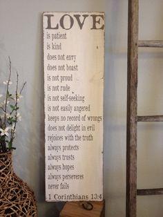 Love is patient love is kind  1 Corinthians 13  by kspeddler, $49.00