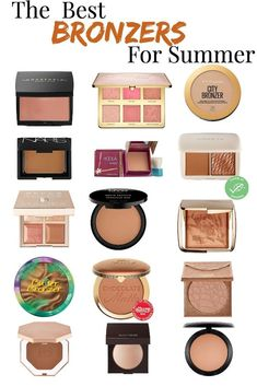 The Best Bronzers For Summer - Hat on the Map - Summer Makeup 2019 The Best Drugstore Bronzer Mac Bronzer, Bronzer For Fair Skin, Bronzers For Dark Skin, Good Drugstore Bronzer, Bronzer Makeup, Best Drugstore Makeup, Makeup Dupes, Makeup Kit, Best Makeup Products