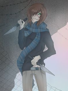 Homicidal Liu Creepypasta,,i remembered once that someone very creepy with a knife in his hand creeped the hell out of me, it was in a lil room:)how i miss those times Sad Stories, Horror Stories, Liu Homicidal, Scaring People, Creepypasta Cute, Creepypasta Proxy, Emo, Creepy Pasta Family, Creeped Out