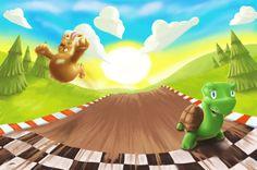 turtle and the rabbit story illustration http://www.marjanart.org/