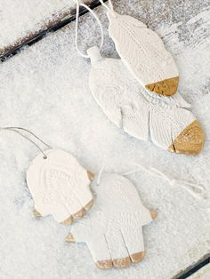 The Collected Works for Free People Gilded Ceramic Ornaments at Free People Clothing Boutique
