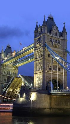 Tower Bridge with drawbridge up.....London  Another favorite