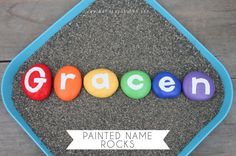 Create a set of alphabet rocks or use round discs from Casey's wood products to create word games with names or events from the Bible.