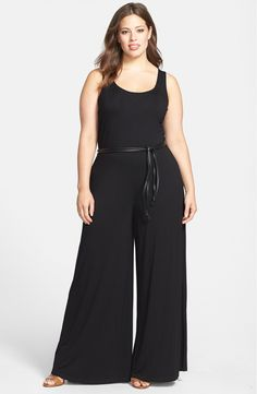 BB Dakota 'Anwer' Jumpsuit (Plus Size) available at Big Girl Fashion, Curvy Fashion, Plus Size Fashion, Look Plus Size, Plus Size Women, Plus Size Dresses, Plus Size Outfits, Marlene Hose, Modelos Plus Size