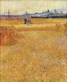 Винсент Ван Гог. Вид Арля с пшеничного поля.   Музей Родена, Париж (Musée Rodin, Paris). 1888. 73x54