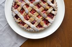 Strawberry Tart with Spiced Hazelnut Pastry