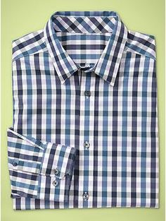 Slim gingham shirt in purple royale for Groom and Groomsmen.