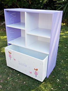 Mueble con cubos con ruedas organizador baules for Mueble juguetes