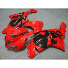 Kawasaki NINJA ZX6R 2007-2008 Injection ABS Fairing - Others - Red/Black   $659.00