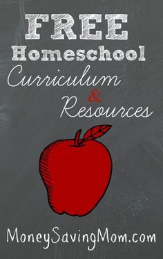 Check out this HUGE list of #FREE homeschool curriculum, resources, printables, and more!