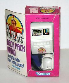 "1975 Kenner Back Pack Radio w Box for Six Million Dollar Man 13"" Action Figure | eBay"