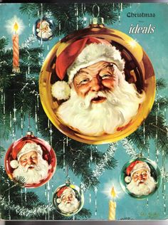Old Ideals Christmas Magazine 1950 Vol 7 No 6 Santa Art by George Hinke Vintage | eBay