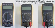 Multimeter Tutorial: explains the basic functions of a multimeter and shows how to measure voltage, resistance, and current with digital multimeters. Home Electrical Wiring, Electrical Installation, Cool Things To Build, Things To Know, Hobby Electronics, Electronics Gadgets, Battery Tools, Electronic Engineering, Science Fair Projects
