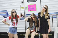 Haim Takes Us Backstage at Coachella and Spills ALL Their Style Secrets - whenwearwhatblog.tumblr.com