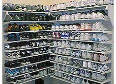sneakers closet · Sneaker RackShoe StorageStorage IdeasUrban StyleShoe  ClosetCribBlack NikesBing ImagesClosets