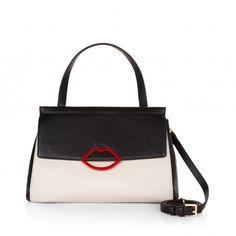 Tricolour Grainy Leather Large Gertie | Cross Body Bags | Handbags | Lulu Guinness